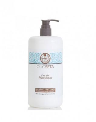 Кондиционер увлажняющий для тонких и светлых волос с маслом арганы и семян льна Barex Hydrating Conditioner 750мл: фото