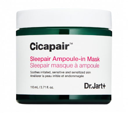 Крем-маска восстанавливающая ночная Антистресс Dr.Jart+ Cicapair sleepair ampoule-in mask 110мл: фото