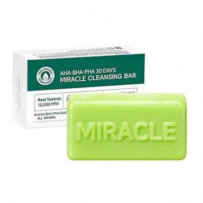 Мыло для проблемной кожи с AHA BHA кислотами SOME BY MI AHA.BHA.PHA 30 Days Miracle Cleansing Bar 106г: фото