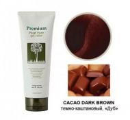 Гель-маникюр для волос Gain Cosmetic Haken Premium Pearll Pure Gel Color Cacao Dark Brown темно-коричневый 220г: фото
