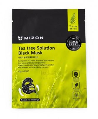 Тканевая маска с экстрактом чайного дерева MIZON Tea Tree Solution Black Mask 25г: фото