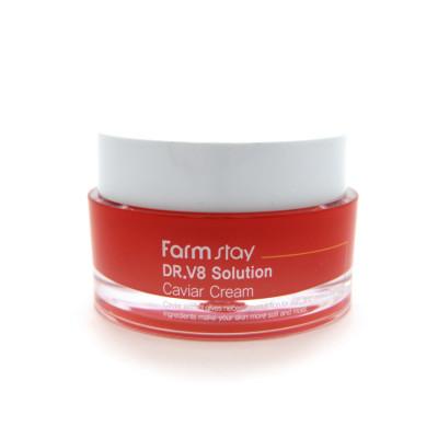 Крем с экстрактом икры FarmStay Dr-V8 Solution Caviar Cream 50мл: фото