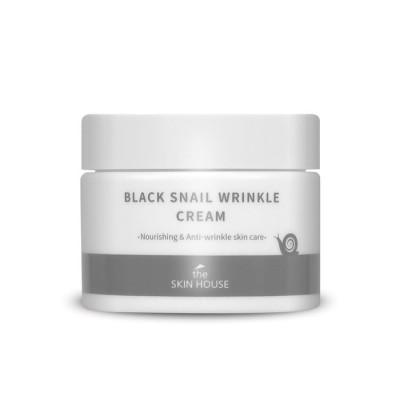 Крем питательный с коллагеном и муцином чёрной улитки The Skin House Black Snail Wrinkle Cream 50мл: фото
