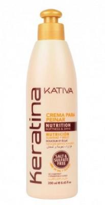 Укрепляющий крем для укладки с кератином для всех типов волос Kativa KERATINA 250 мл: фото