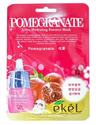 Тканевая маска для лица с экстрактом граната EKEL Pomegranate Ultra Hydrating Essence Mask 25г: фото