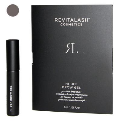 Гель для бровей с пептидами тонирующий RevitaLash Cosmetics Hi-Def Tinted Brow Gel темно-коричневый, Dark Brown 3 мл: фото