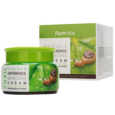 Крем увлажняющий с муцином улитки FarmStay Snail Visible Difference Moisture Cream 100г: фото