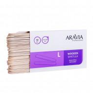 Шпатели деревянные одноразовые размер L ARAVIA Professional 50 шт: фото