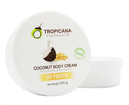 Крем для тела СОЕВЫЙ ПРОТЕИН TROPICANA Coconut Body cream Soy bean 250 мл: фото