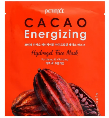 Гидрогелевая маска для лица КАКАО PETITFEE Cacao Energizing Hydrogel Face Mask 32г: фото