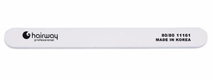 Пилка стандарт, белая Hairway 80/80: фото