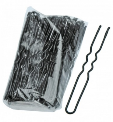 Шпильки волнистые Sibel 65мм черные 50шт: фото