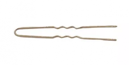 Шпильки волнистые Sibel 45мм бронзовые 50шт: фото