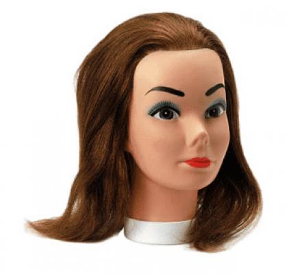"""Голова учебная """"шатенка"""" Sibel CANDY (натуральные волосы, 20-35см): фото"""