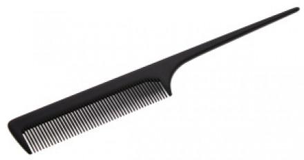 Расческа с пластиковым хвостиком Sibel FINE HANDLE COMB черная: фото