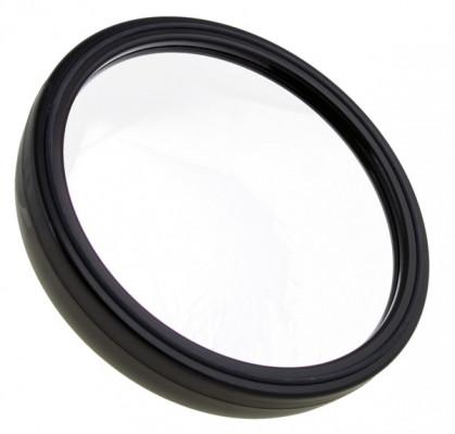 Круглое чёрное зеркало с ручкой Sibel 22см черное: фото