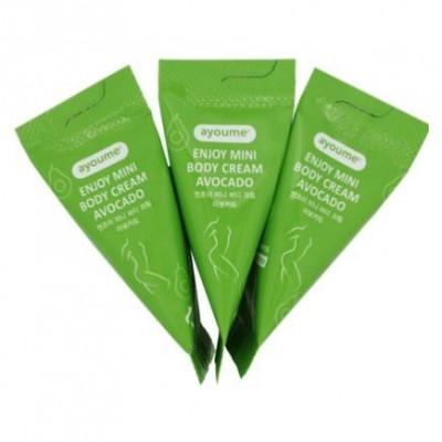Набор кремов для тела с авокадо AYOUME Enjoy mini body cream AVOCADO Set 10г*100шт: фото