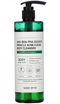 Очищающий гель для тела с кислотами SOME BY MI AHA·BHA·PHA 30 DAYS MIRACLE ACNE CLEAR BODY CLEANSER 400г: фото
