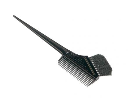 Гребень c щеткой для профессионального окрашивания волос малый Vess Hairdye brush and comb: фото