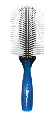 Щетка профессиональная для укладки волос Vess Blow brush с-150 синяя: фото