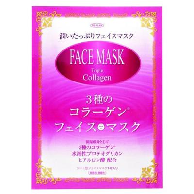 Маска для лица с тремя видами коллагена To-plan Triple collagen face mask 15мл: фото