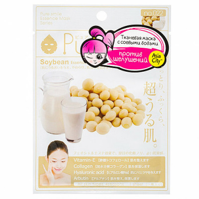 Маска для лица с экстрактом соевых бобов Sunsmile Face mask with soya bean ext 23мл: фото
