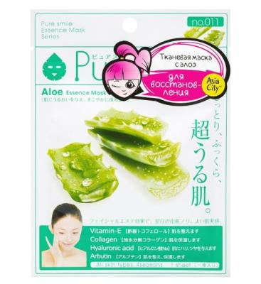 Маска для лица восстанавливающая с экстрактом алоэ Sunsmile Aloe Essence Mask 23мл: фото