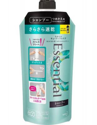 Шампунь для защиты волос при сушке феном KAO Essential smart blow dry 340мл: фото