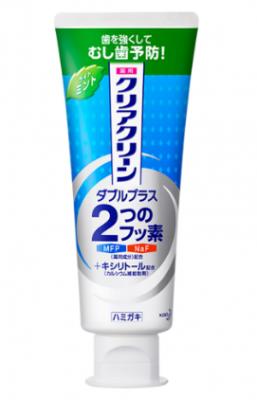 Зубная паста лечебно-профилактическая мятная KAO Clear clean double plus light mint 130г: фото