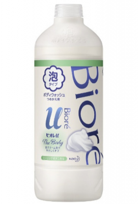 Крем-пенка для душа с ароматом целебных трав KAO Biore u body wash pure savon 450мл: фото