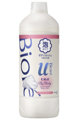 Мыло-пенка для душа с букетным ароматом KAO Biore u foaming body wash pure savon 450мл: фото