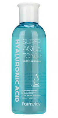 Тонер суперувлажняющий с гиалуроновой кислотой FarmStay Hyaluronic acid super aqua toner 200мл: фото
