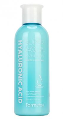 Эмульсия суперувлажняющая с гиалуроновой кислотой FarmStay Hyaluronic acid super aqua 200мл: фото
