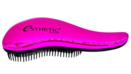Расчёска для волос розовая Esthetic House Hair brush for easy comb gold: фото