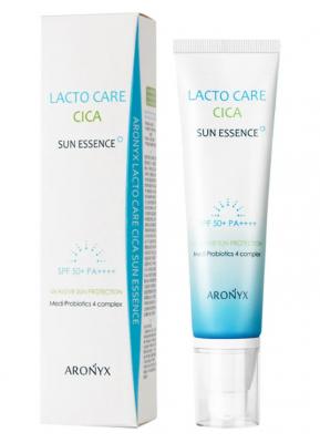 Эссенция с лактобактериями солнцезащитная MediFlower Aronyx Lacto care cica sun essence 50мл: фото