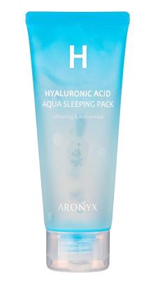 Маска ночная увлажняющая с гиалуроновой кислотой MediFlower Aronyx Hyaluronic acid aqua sleeping pack 100мл: фото
