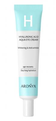 Крем для глаз увлажняющий с гиалуроновой кислотой и пептидами MediFlower Aronyx hyaluro 40мл: фото