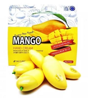 Набор кремов для рук с манго 3W Clinic Mango hand cream 30г*6шт: фото